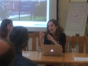 Rebecca and Kate discussing what role technology can play in overcoming inequalities in HE/FE